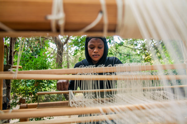 Weaving is done at Footsteps eco lodge