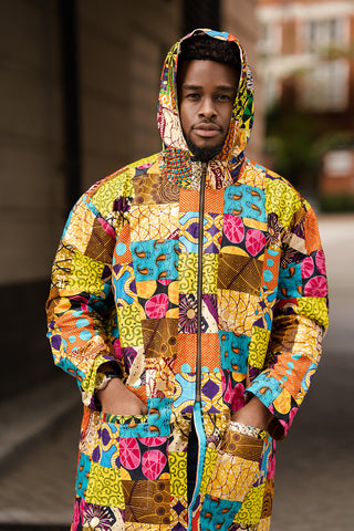 African Clothing: Patchwork Winter Jacket