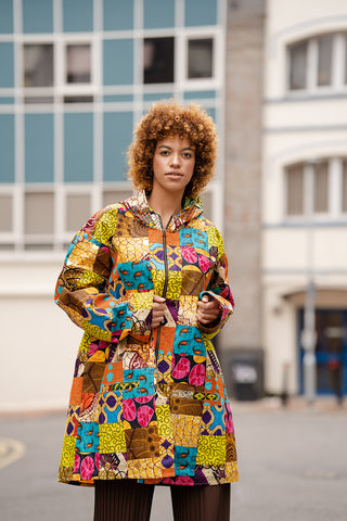 African Patchwork Jacket / Winter Jacket