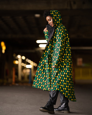 African Clothing - African Print Military Coat