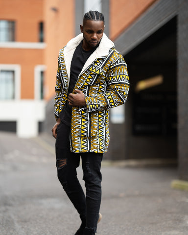 African Clothing: African Winter Parka In Mud Cloth