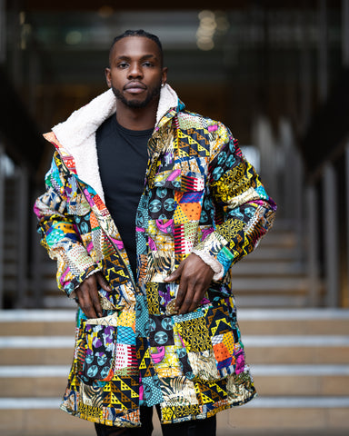African Clothing: Patchwork Parka