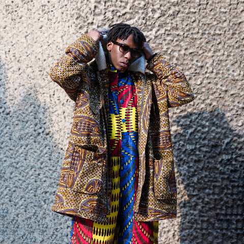 African Parka with African Boiler Suit