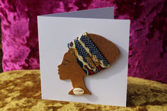 African Card Card Made with Recycled Wood and Eco Friendly Paper - Continent Clothing