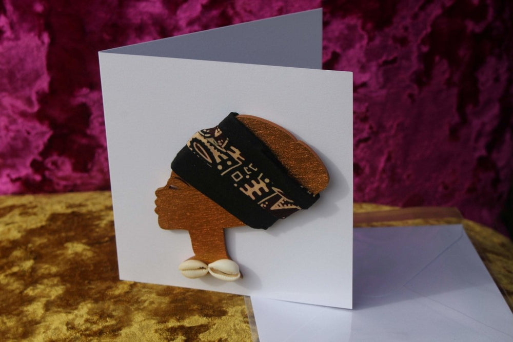 African Card Card Made with Recycled Wood and Eco Friendly Paper - The Continent Clothing