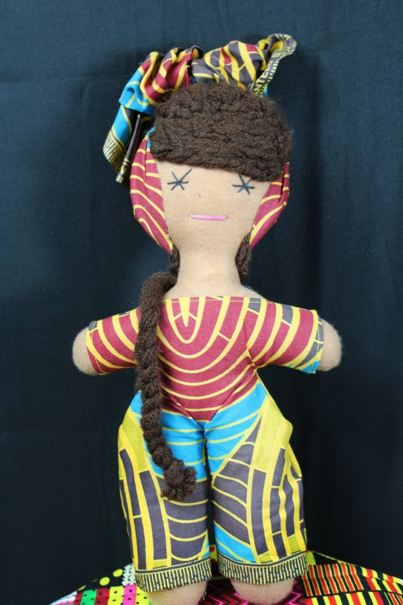 African Doll In Gorgeous Ankara Outfit - Continent Clothing