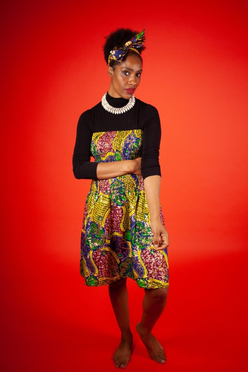African Dress in Beautiful Gold Print - The Continent Clothing