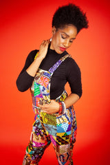 African Dungarees In Unique Patchwork - Continent Clothing