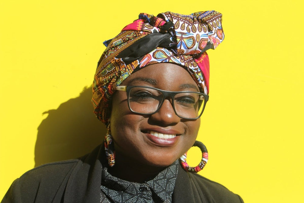 African Head Wrap in Black Dashiki - The Continent Clothing