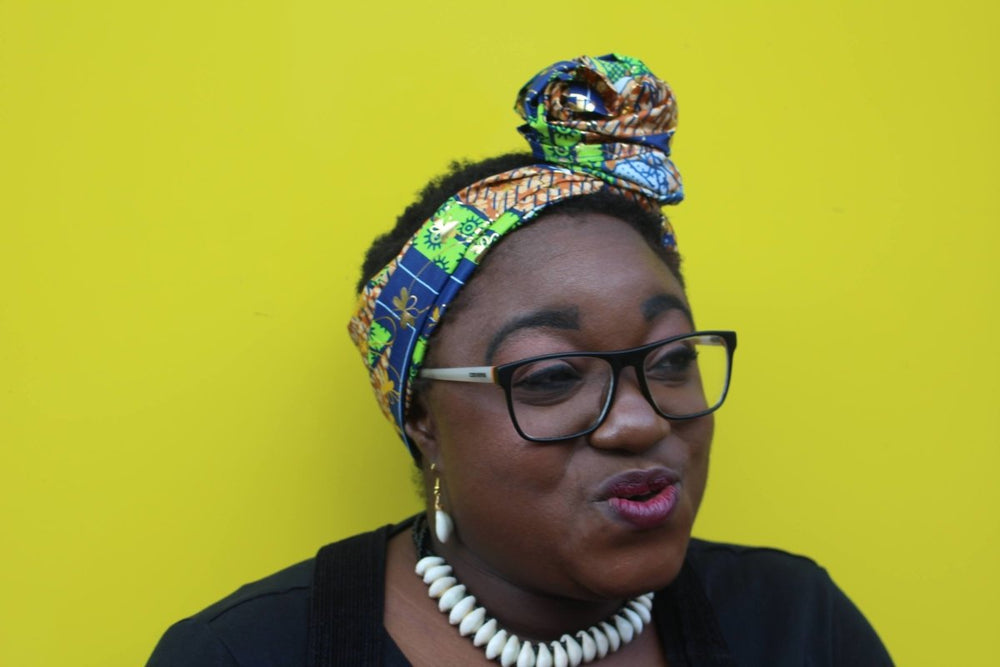 African Head Wrap in Gold Ankara - The Continent Clothing