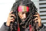African Headband in Red Dashiki - Continent Clothing