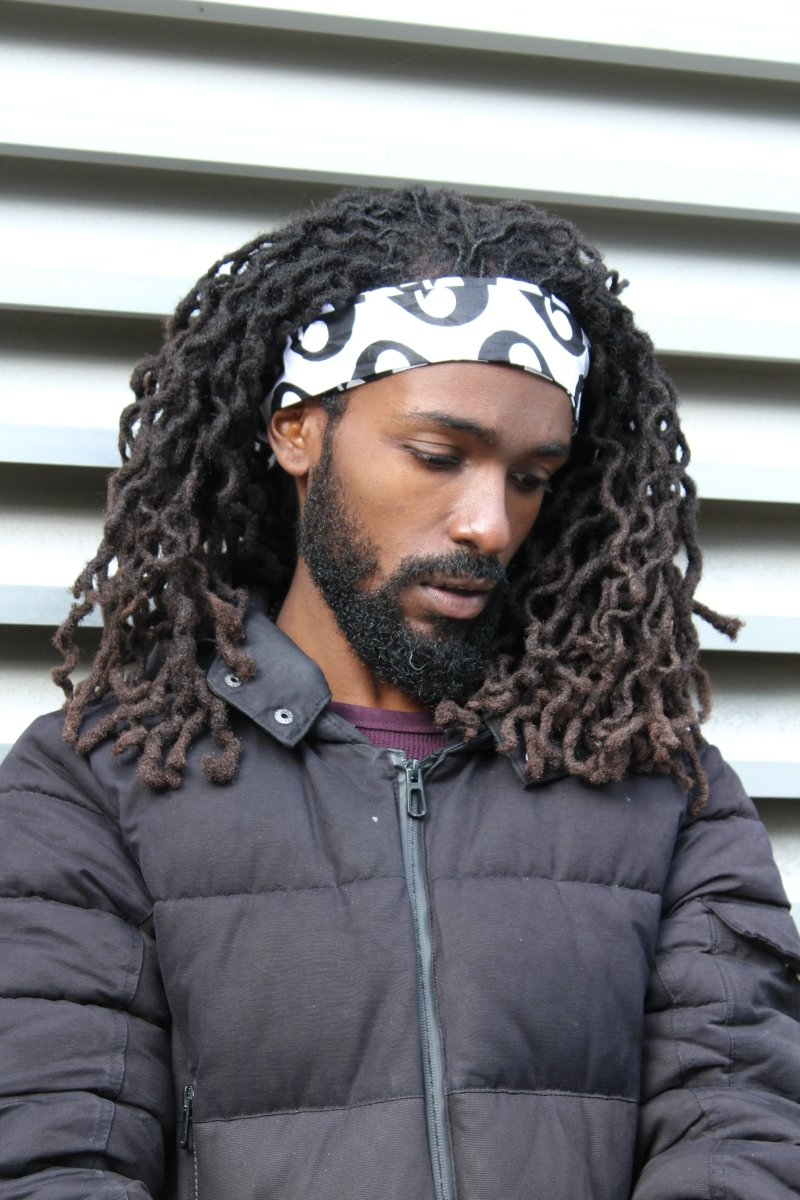 African Headband in White & Black - Continent Clothing