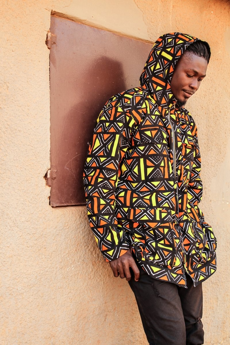 African Hoodie In Mud Cloth - Continent Clothing