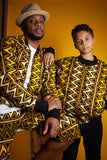 African Jacket In Mud Cloth - Continent Clothing