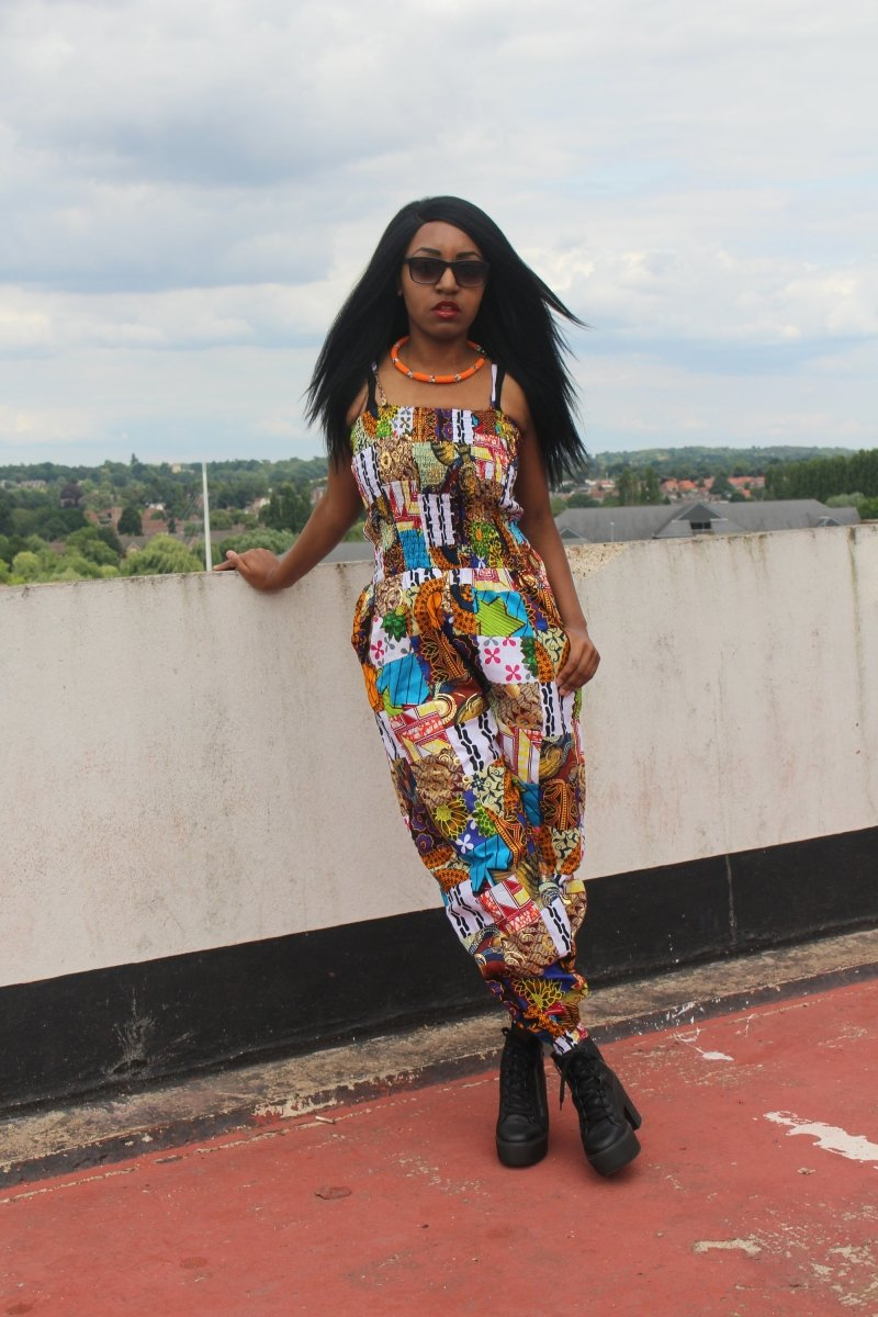African Jumpsuit in Patchwork - Festival Jumpsuit - Continent Clothing
