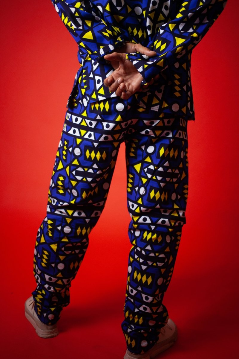 African Pants In Electric Blue Samakaka - Continent Clothing