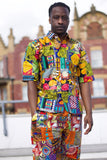 African Patchwork Shirt - Colour Crazy Festival Shirt - Continent Clothing