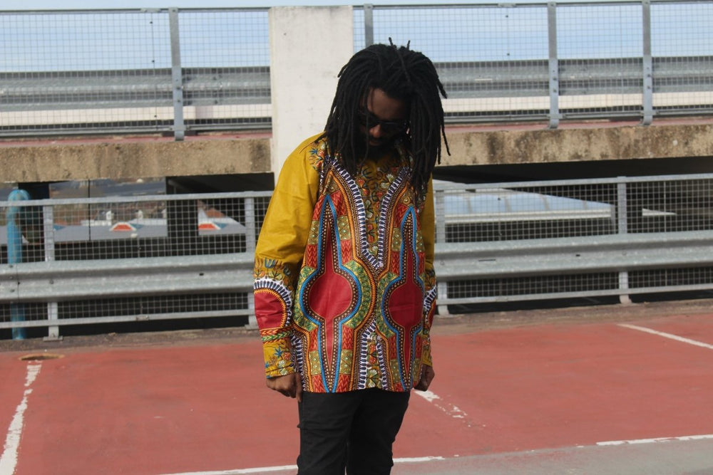African Print Shirt in Brown Dashiki - Festival Shirt - The Continent Clothing