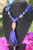 African Statement Necklace with Masai Beadwork - The Continent Clothing