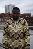 African Top in Brown Ankara - Continent Clothing