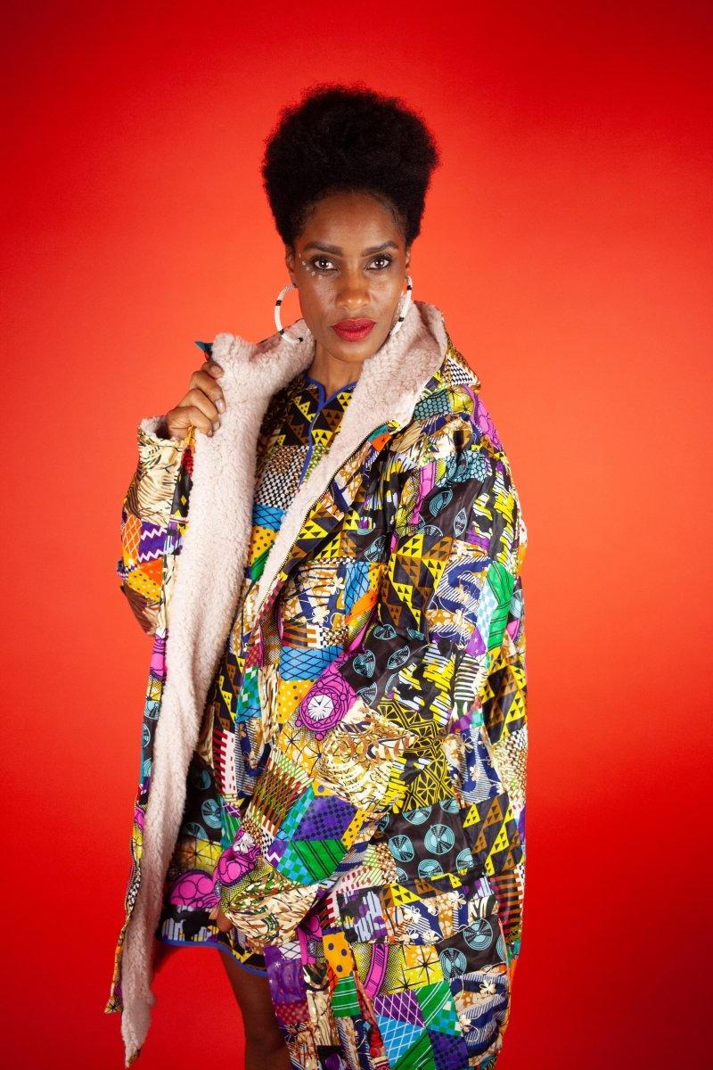 African Winter Coat In Crazy Patchwork - The Continent Clothing