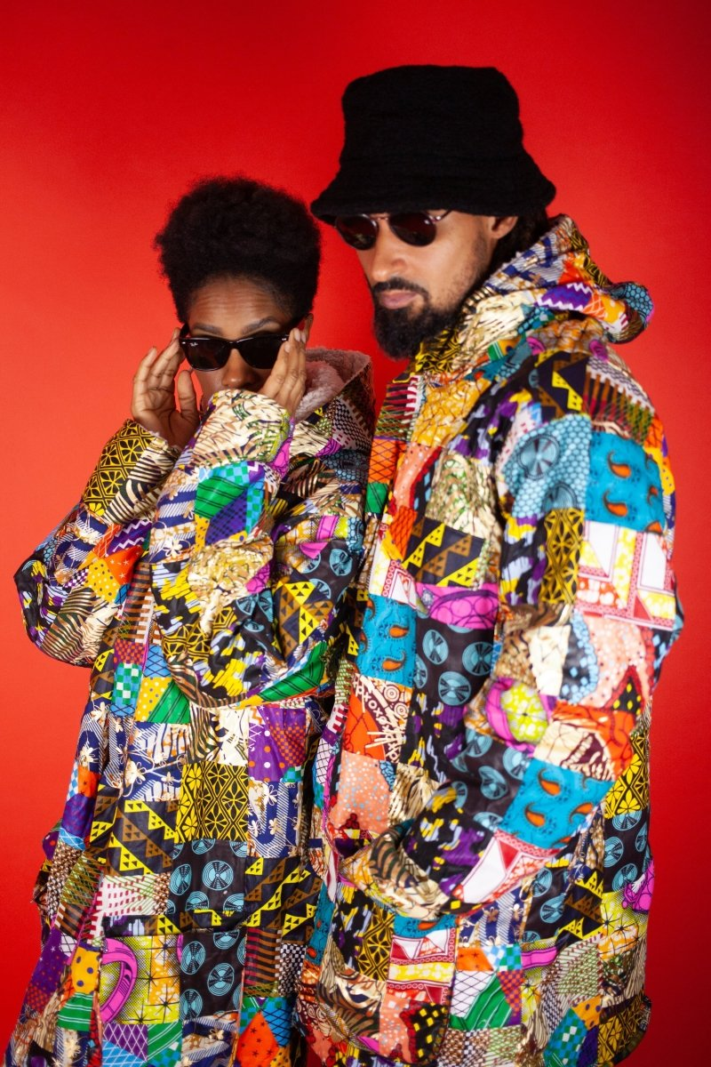 African Winter Coat In Crazy Patchwork - Continent Clothing
