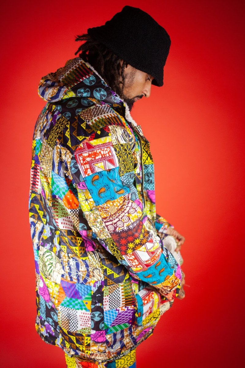 African Winter Coat in Patchwork - The Continent Clothing
