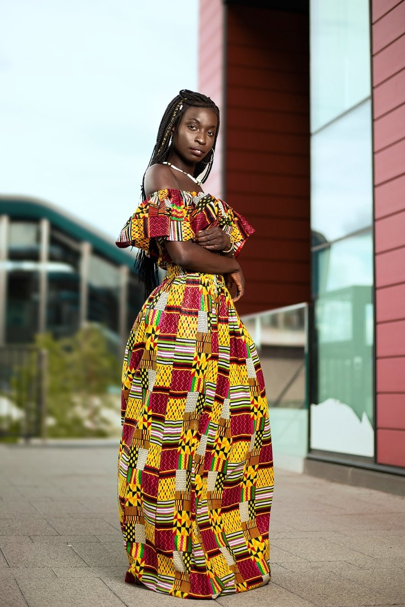 Amazing Kente African Maxi Dress - Continent Clothing