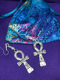 Ankh Charm Earrings made with Silver - The Continent Clothing
