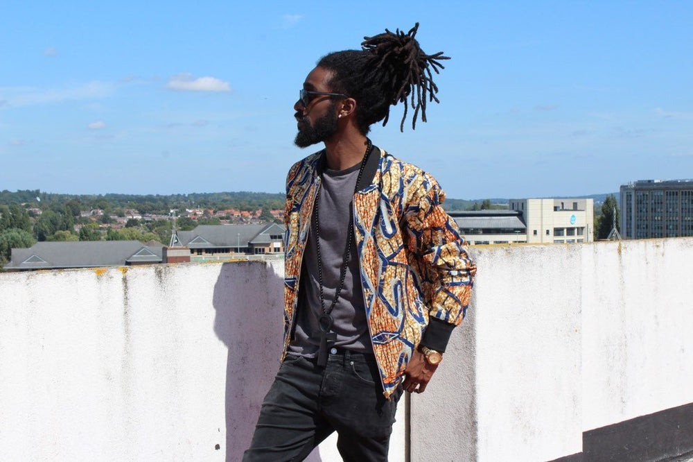 Aztec Jacket in Gold African Print, A great Summer jacket - The Continent Clothing