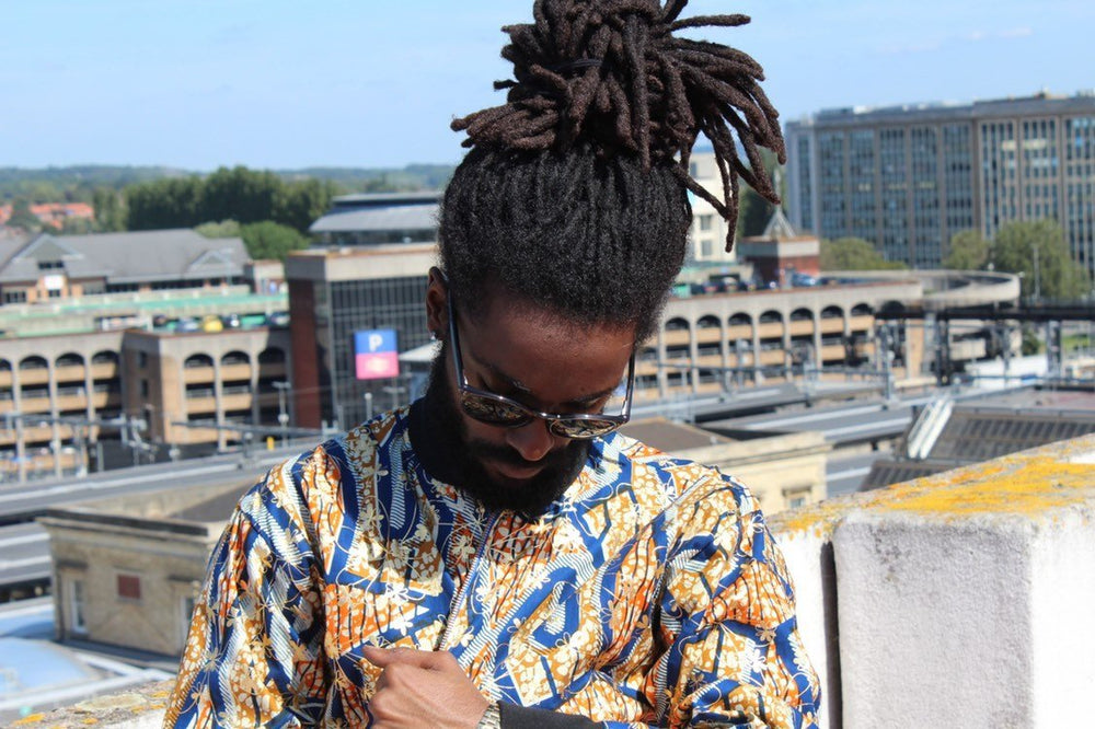 Aztec Jacket in Gold African Print, A great Summer jacket - Continent Clothing
