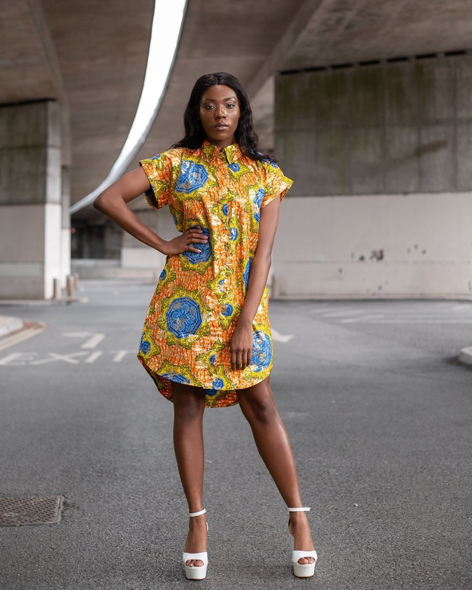 Beautiful Gold African Dress - Continent Clothing