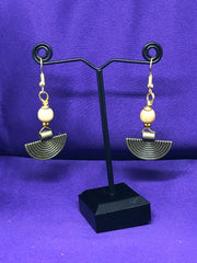 Boho Earrings with Brass - Continent Clothing