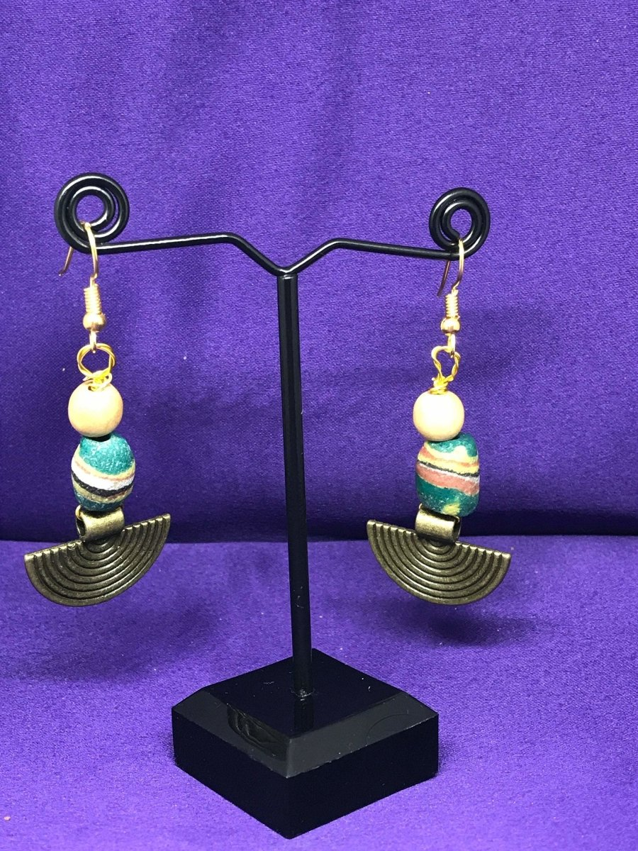 Brass Boho Earrings With Tribal Influence - Continent Clothing