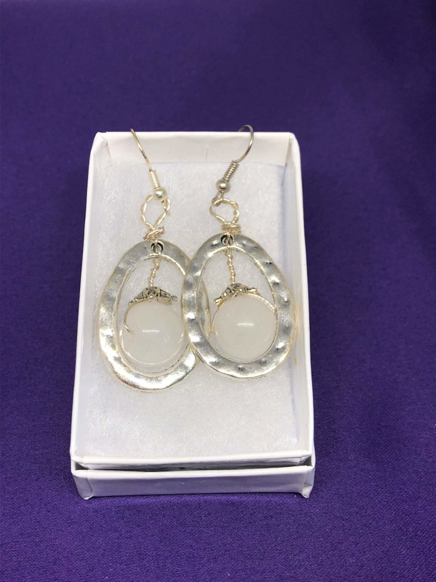Clear Quartz Crystal Hoops - Continent Clothing