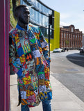 Festival Coat in Patchwork African Print - Continent Clothing
