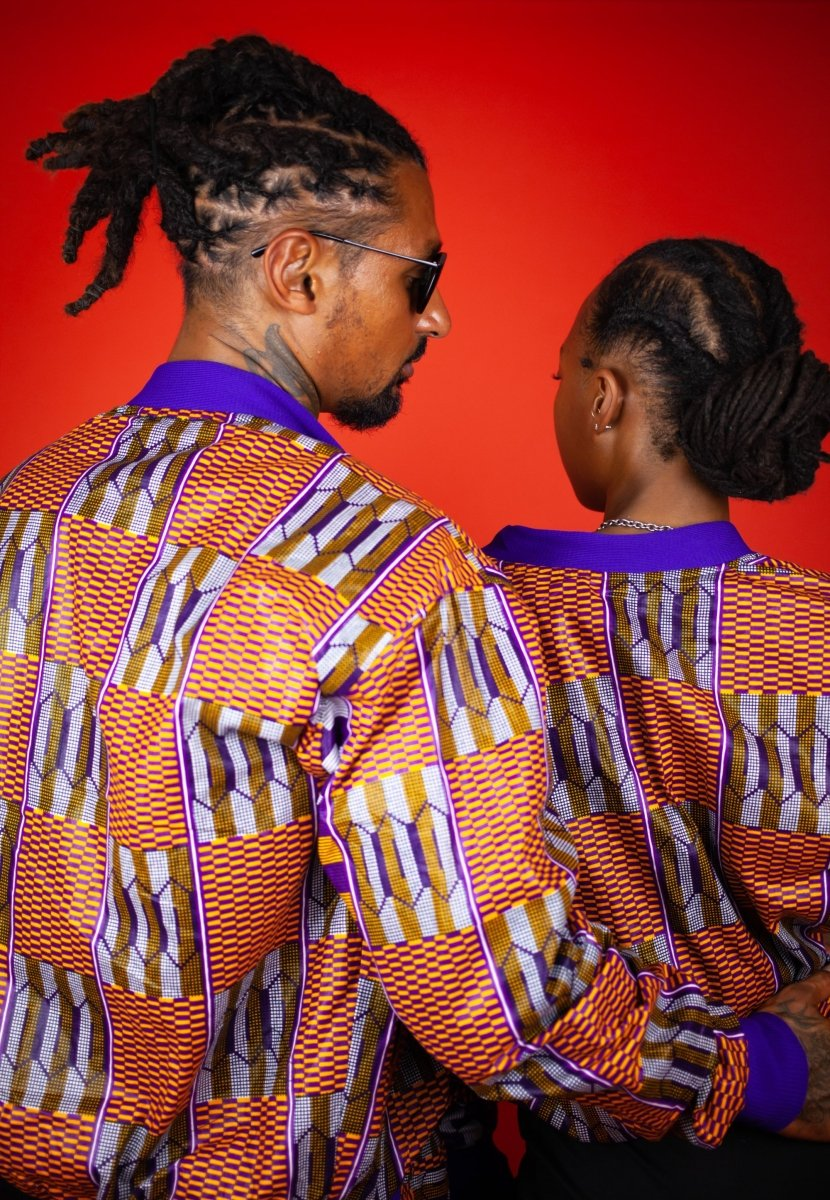 Festival Jacket In Brown Kente - Continent Clothing