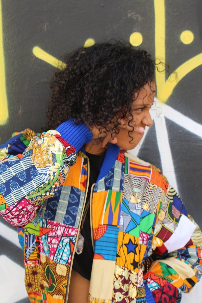 Festival Jacket - Patchwork Bomber Jacket - Continent Clothing