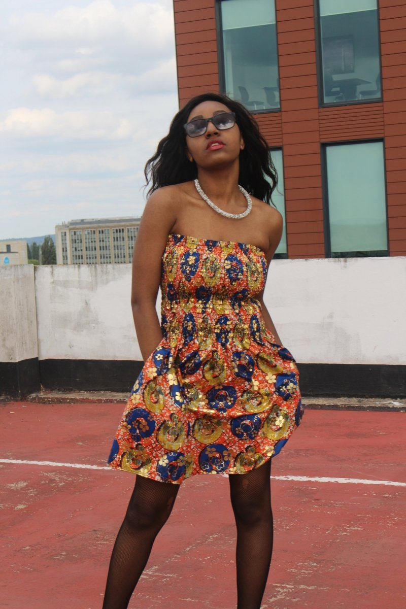 Gold African Dress - Festival Clothing - The Continent Clothing
