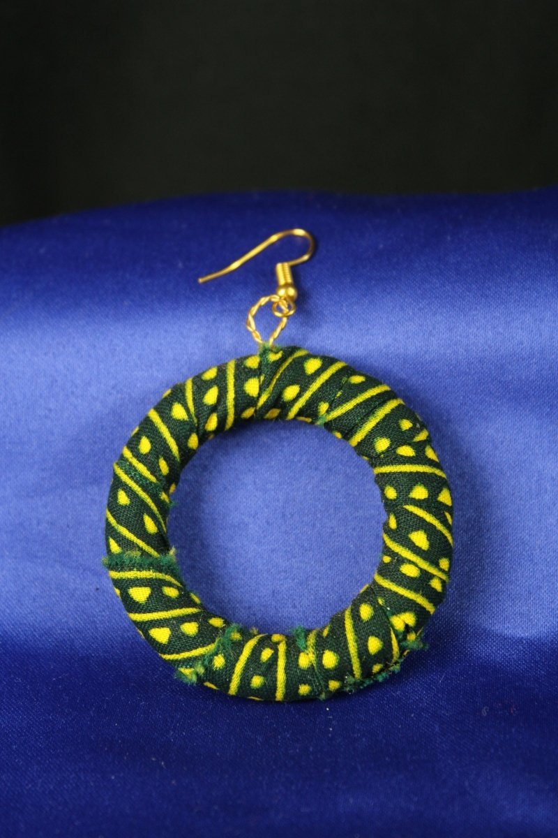 Gorgeous Green African Hoops - The Continent Clothing