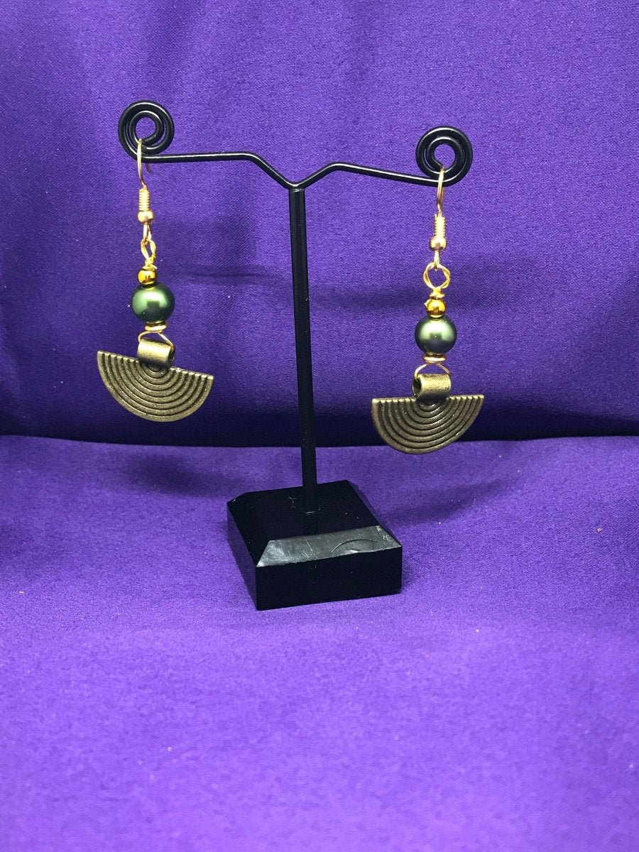 Gypsy Earrings in Brass - The Continent Clothing