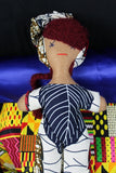 Handmade African Doll made with Ankara - Continent Clothing
