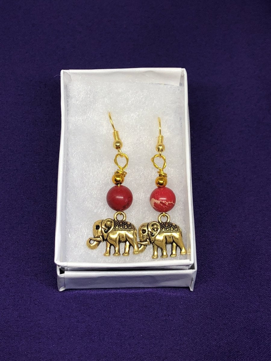 Lucky Elephant Earrings Animal Lover - Continent Clothing