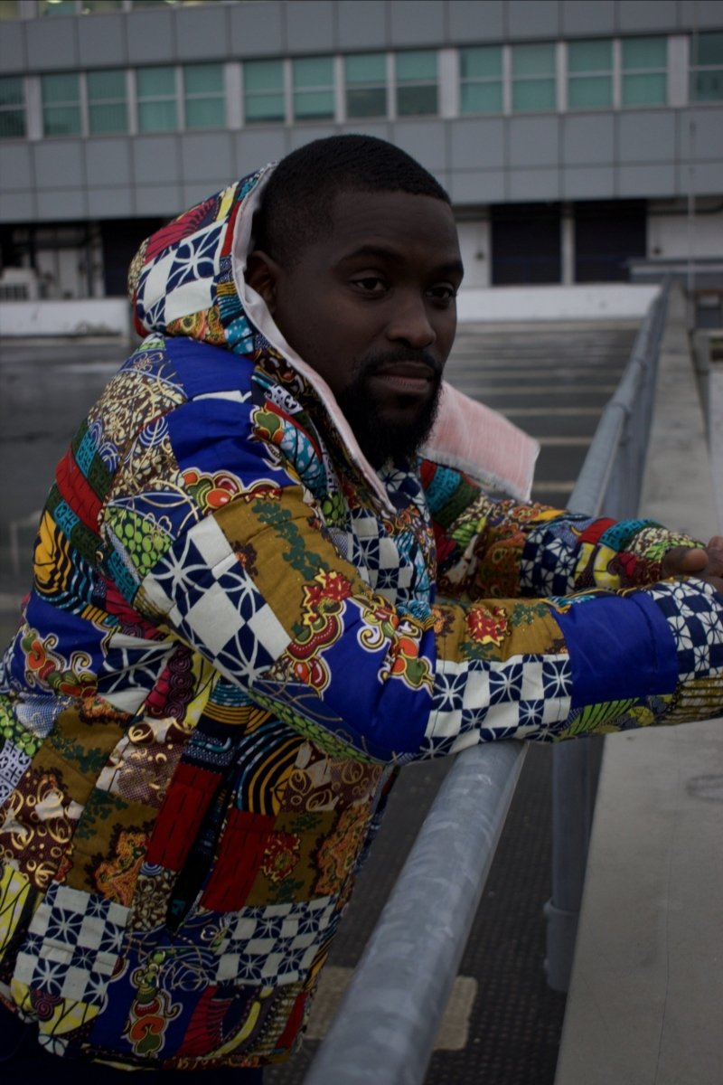 Patchwork African Puffer Jacket - African Winter Coat - Continent Clothing