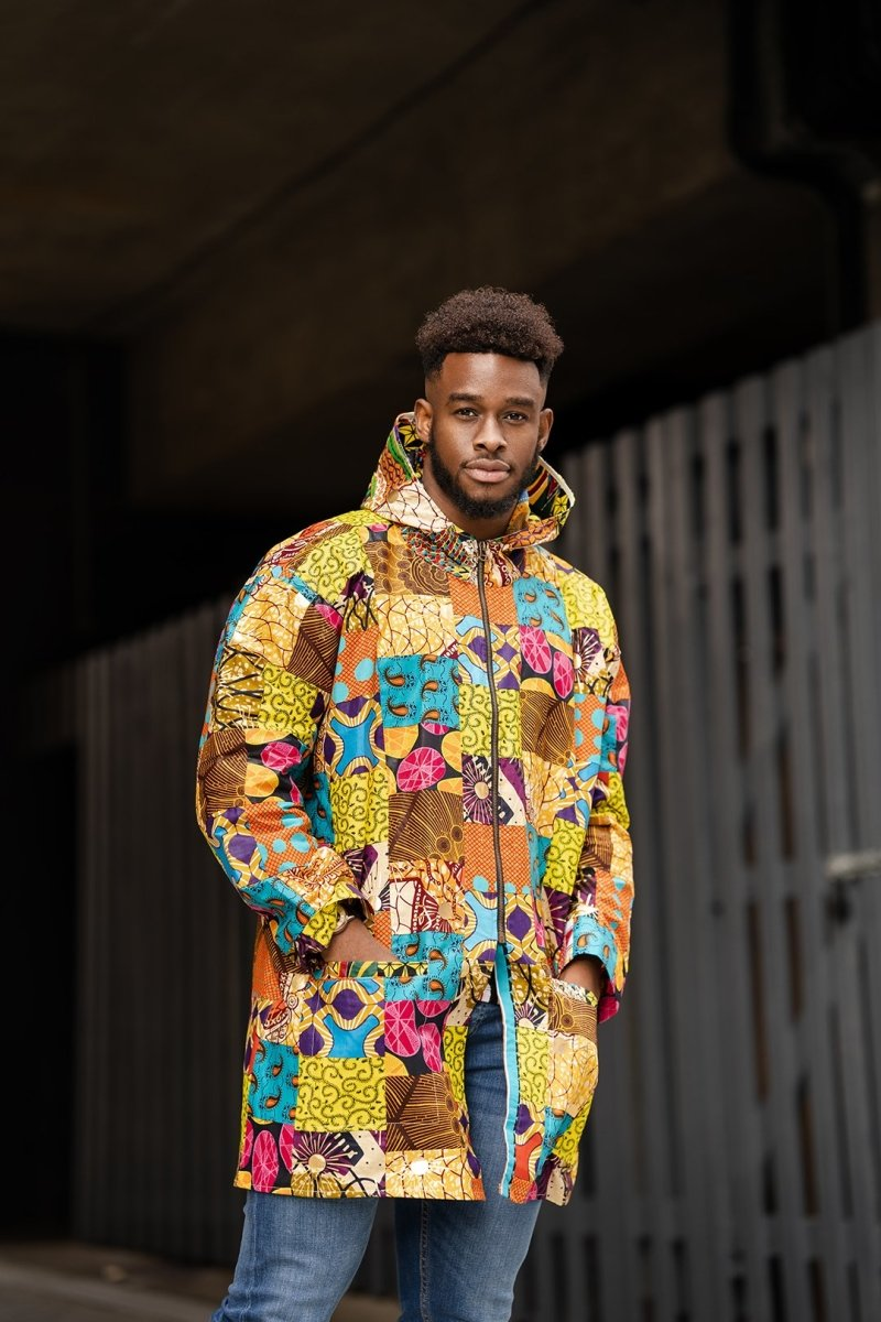 Patchwork Hooded Jacket - Continent Clothing