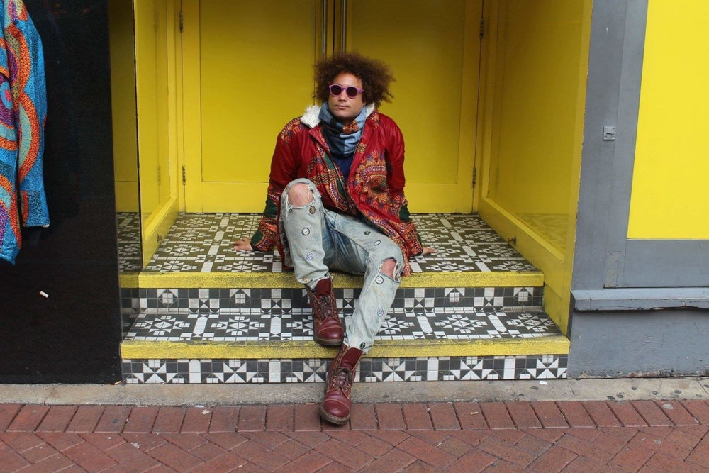 Red Dashiki Winter Coat - African Coat - African Parka - Continent Clothing