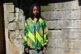 Retro Bomber Jacket - Fresh Prince Jacket in Green - Continent Clothing