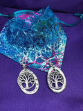 Tree of Life Earrings with Silver - Continent Clothing