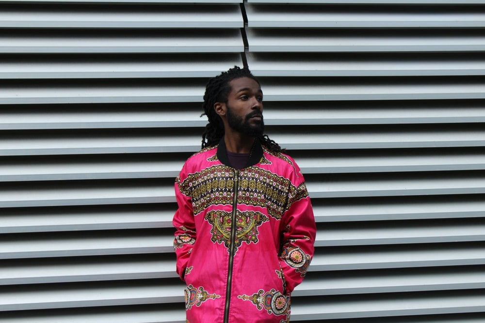 Vibrant Pink Dashiki Winter Trench Coat - Continent Clothing