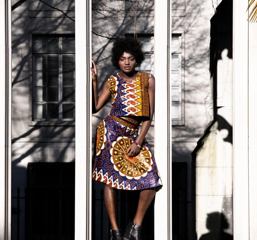 African outfit, Summer skirt and top